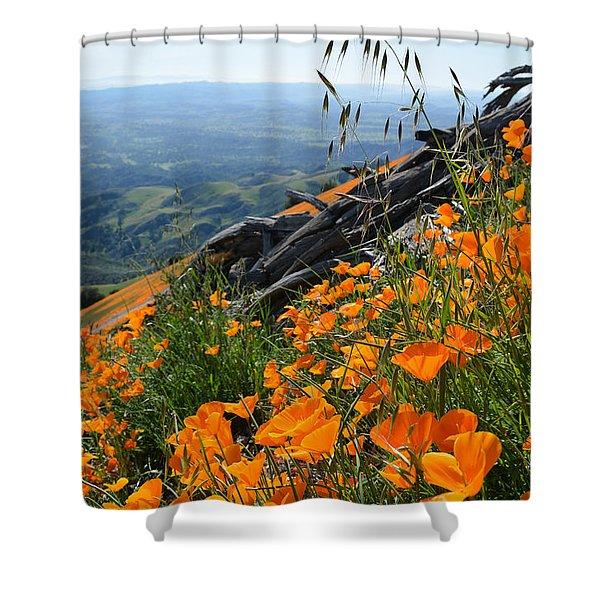 Poppy Mountain  Shower Curtain