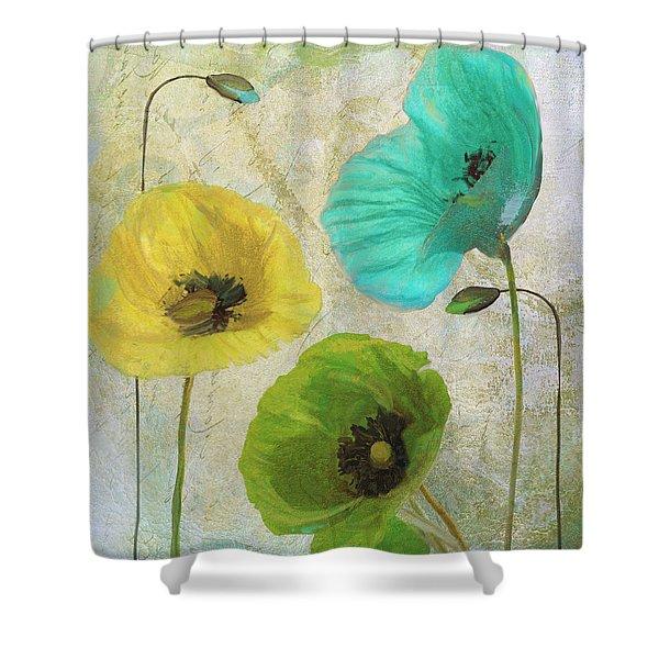 Poppy Shimmer I Shower Curtain