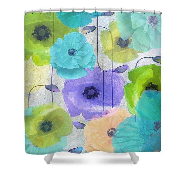 Poppy Shimmer Iv Shower Curtain