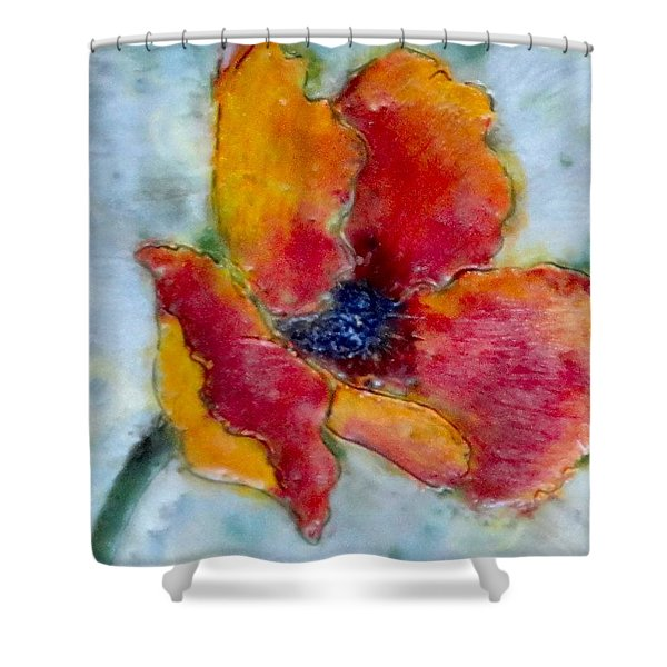 Poppy Smile Shower Curtain