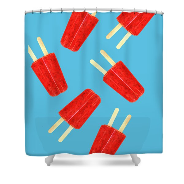 Popsicle T-shirt Shower Curtain