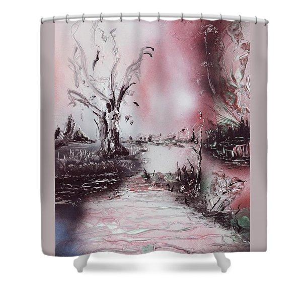 Porcelain River Shower Curtain