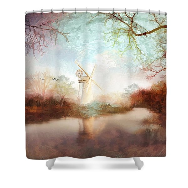 Porcelain Skies Shower Curtain