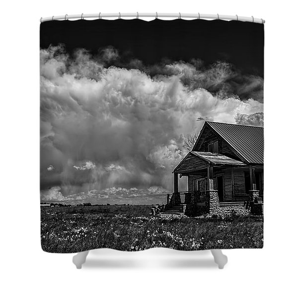 Porch View Shower Curtain