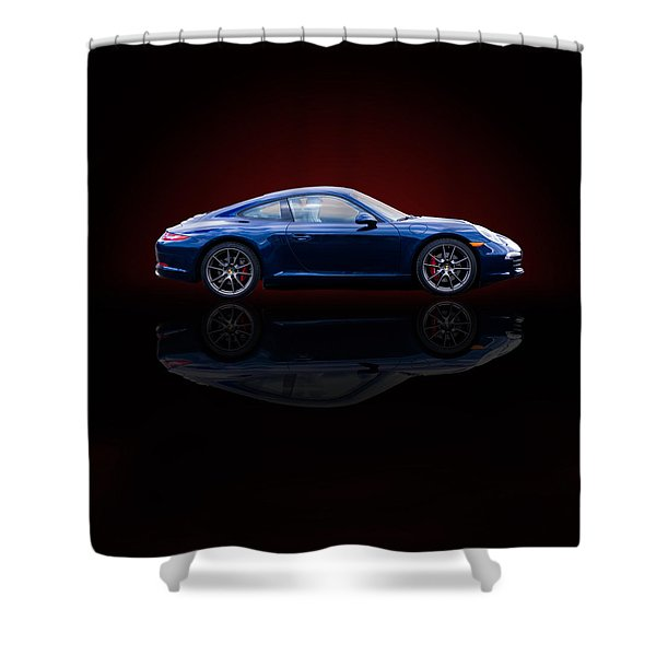 Porsche 911 Carrera - Blue Shower Curtain