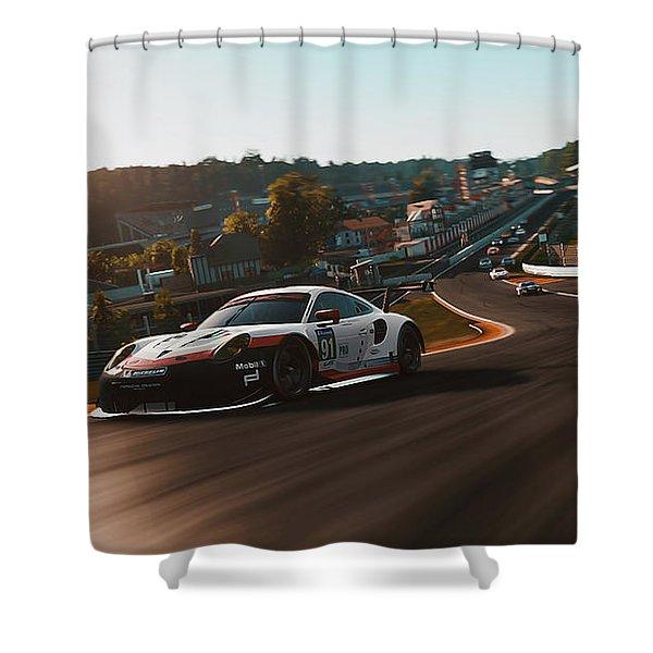 Porsche 911 Rsr, Spa-francorchamps - 33 Shower Curtain