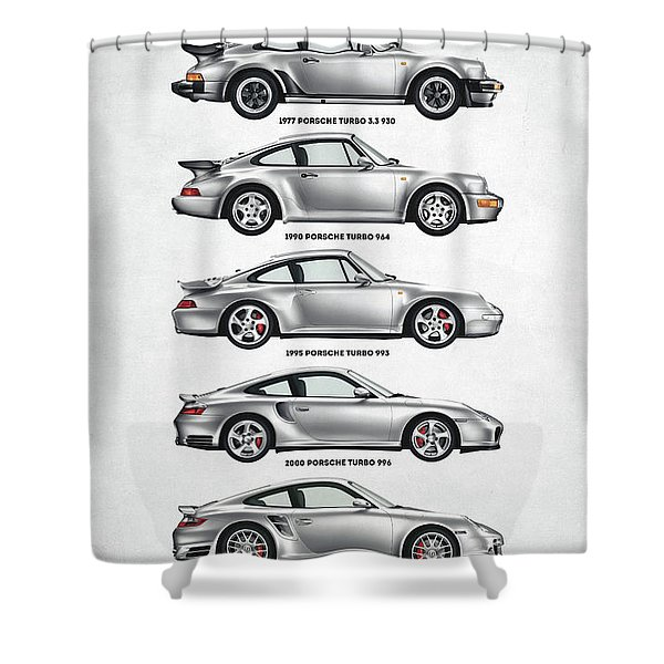 Porsche 911 Turbo Evolution Shower Curtain