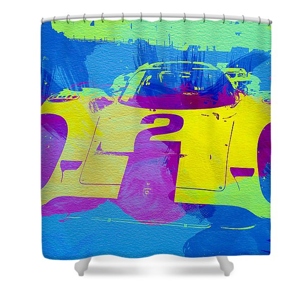Porsche 917 Front End Shower Curtain