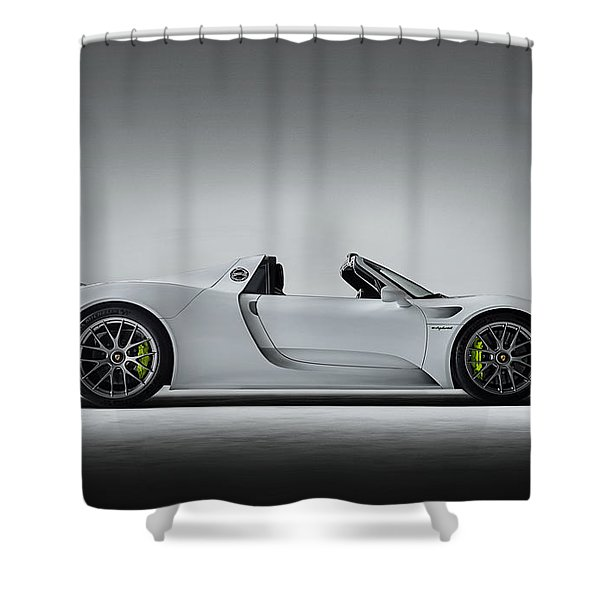 Porsche 918 Spyder Shower Curtain