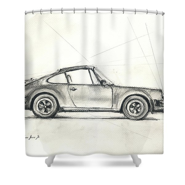 Porsche 930 Turbo Shower Curtain
