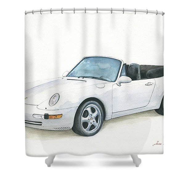 Porsche 993 Cabrio Shower Curtain