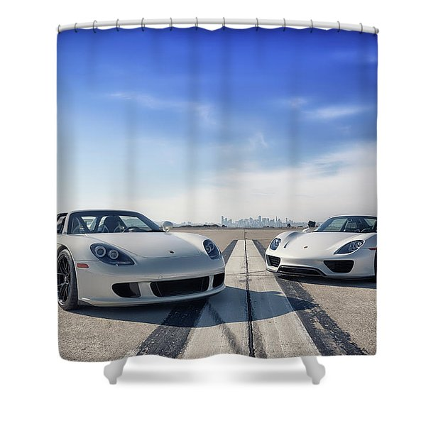 #porsche #carreragt And #918spyder Shower Curtain