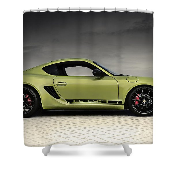 Porsche Cayman R Shower Curtain