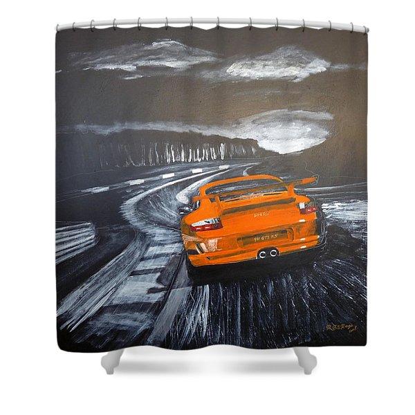 Porsche Gt3 @ Le Mans #3 Shower Curtain