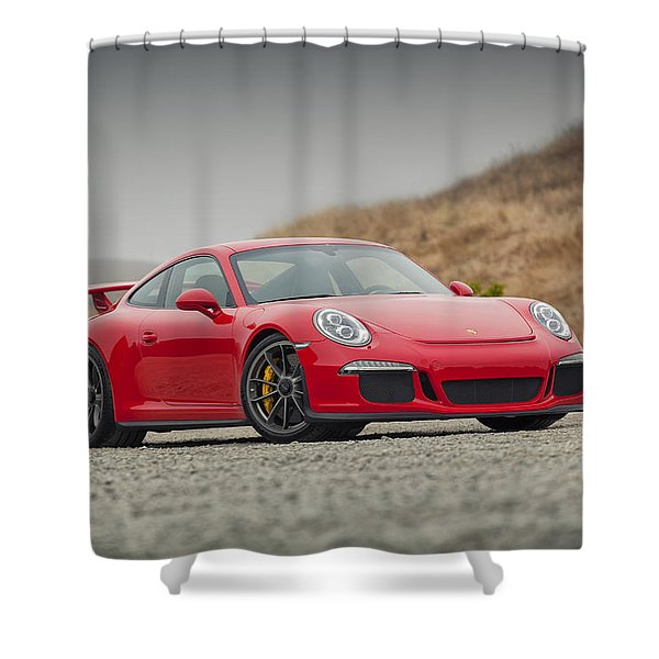 Porsche 991 Gt3 Shower Curtain