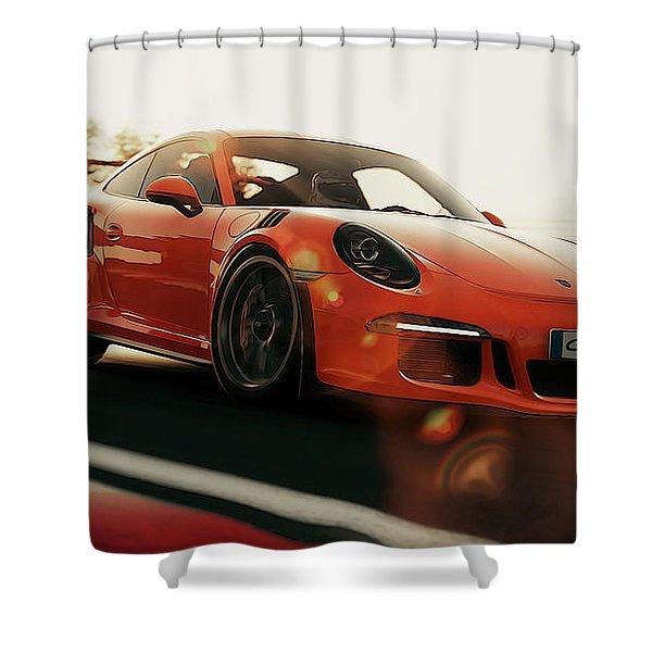 Porsche Gt3 Rs - 4 Shower Curtain