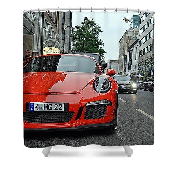 Porsche Gt3 Rs Shower Curtain