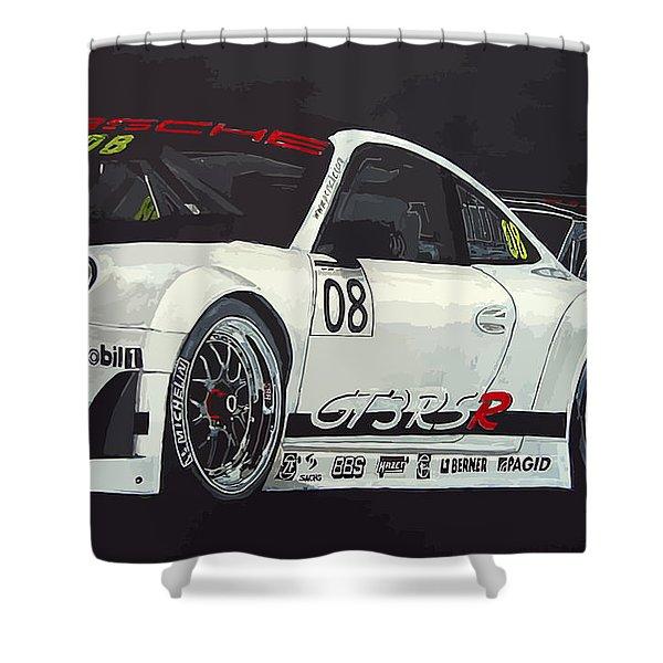 Porsche Gt3 Rsr Shower Curtain