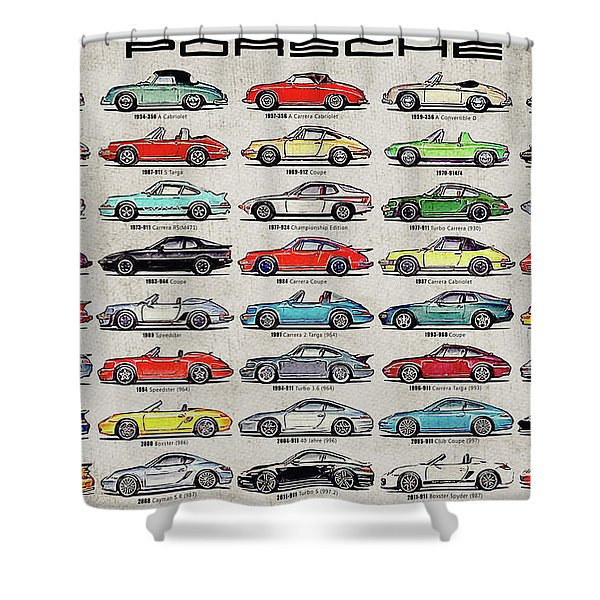 Porsche Poster Shower Curtain