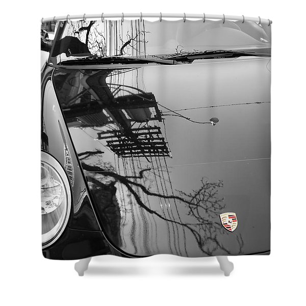 Porsche Reflections Shower Curtain