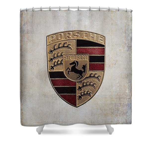 Porsche Shield Shower Curtain