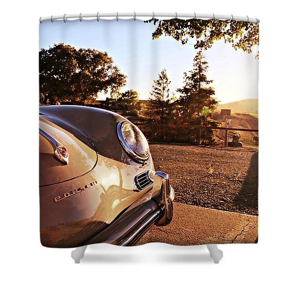 Porsche Sundown Shower Curtain