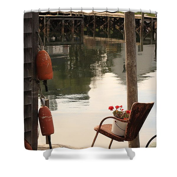 Port Clyde Life Shower Curtain