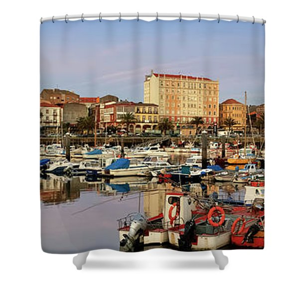 Port Of Ferrol Galicia Spain Shower Curtain