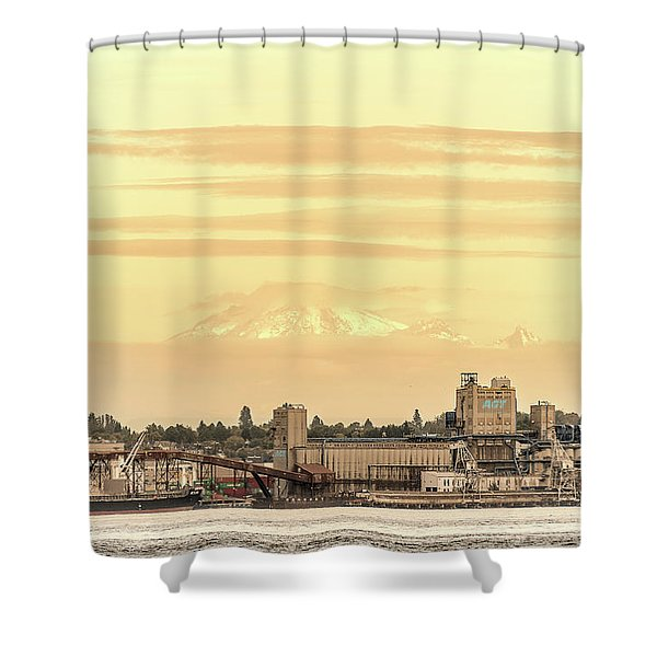 Port Of Vancouver Shower Curtain