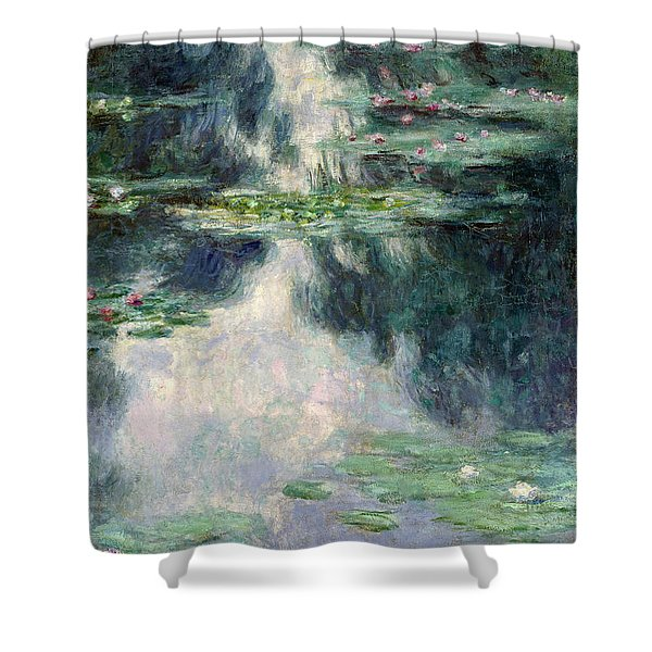 Port-pond With Water Lilies-1907 Shower Curtain