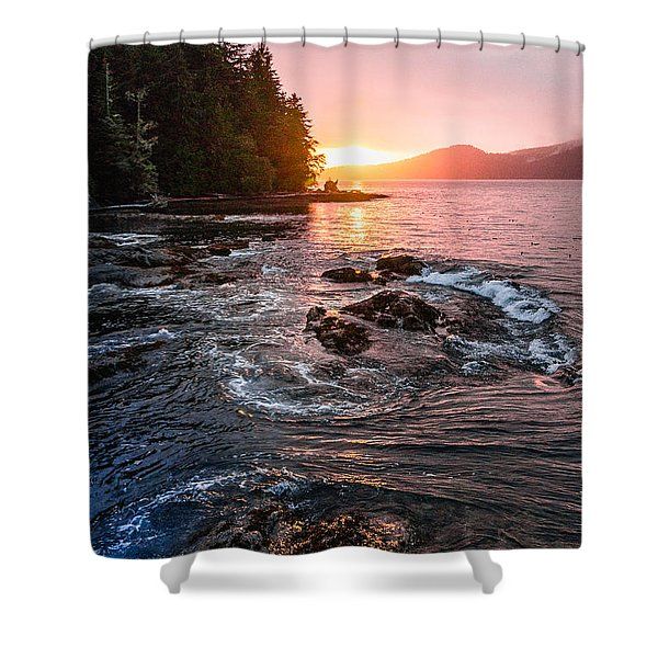 Port Renfrew Evening Shower Curtain