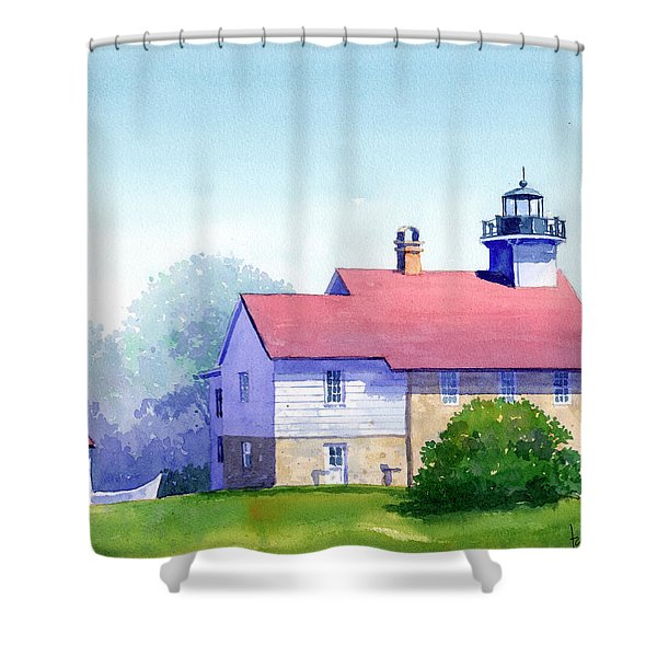 Port Washington Lighthouse Shower Curtain