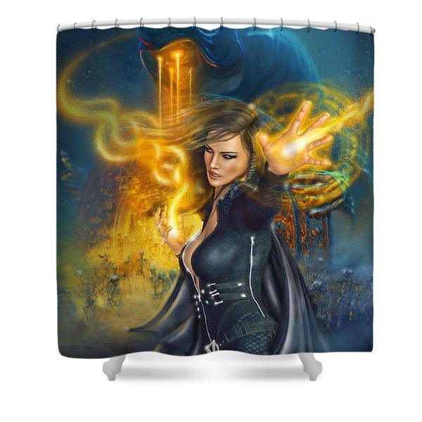 Portal Magician Shower Curtain