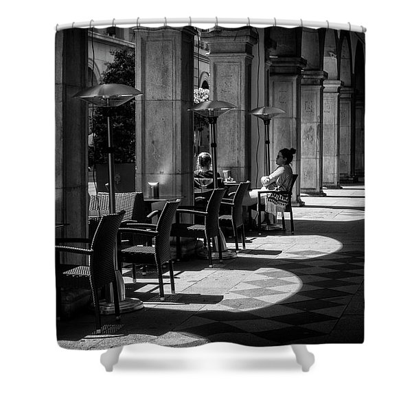 Portico Conversation Shower Curtain