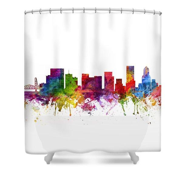 Portland Cityscape 06 Shower Curtain
