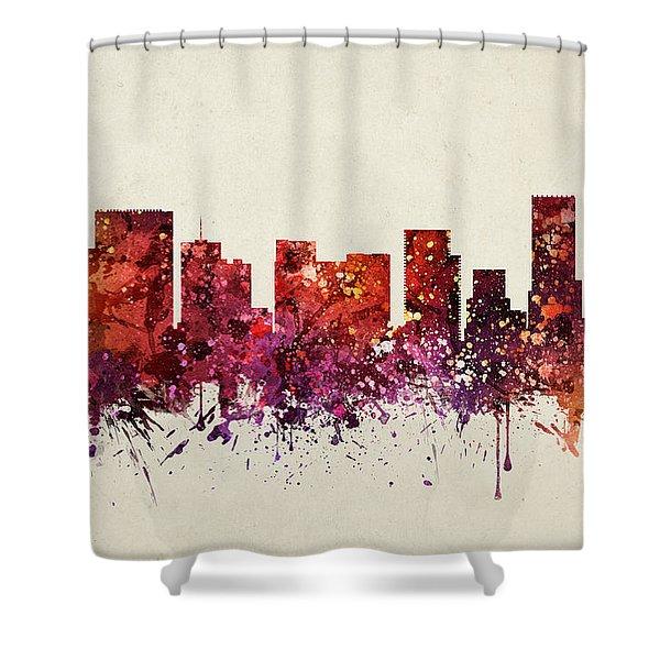 Portland Cityscape 09 Shower Curtain