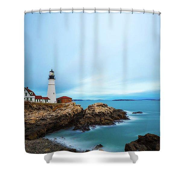 Portland Head Light 1 Shower Curtain