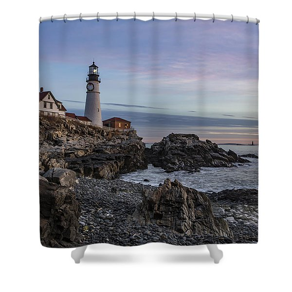 Portland Head Light December 2015 Shower Curtain