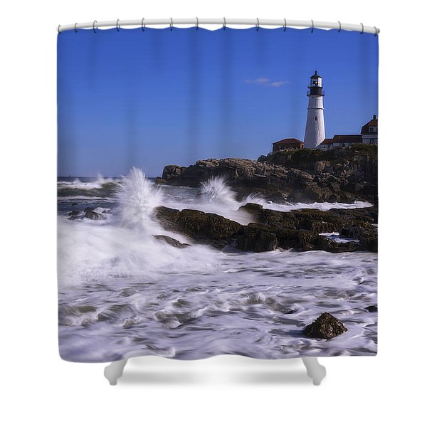 Portland Head Light I Shower Curtain