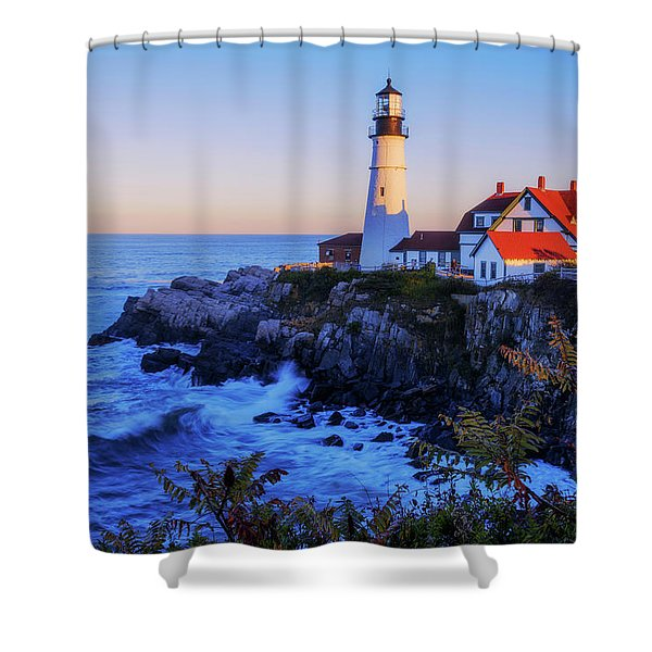 Portland Head Light II Shower Curtain