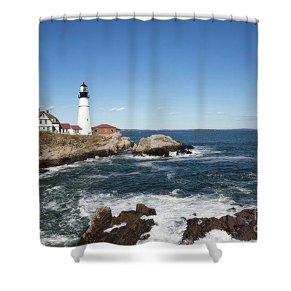 Portland Head Lighthouse Maine Shower Curtain