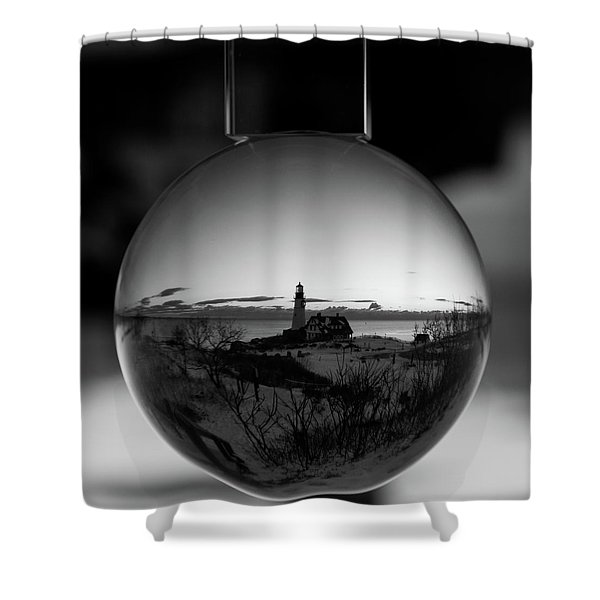 Portland Headlight Globe Shower Curtain