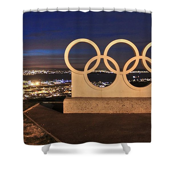 Portland Olympic Rings Shower Curtain