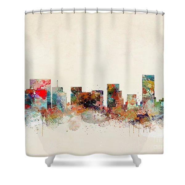Portland Oregon City Skyline Shower Curtain
