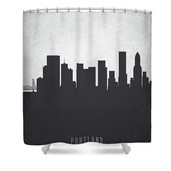Portland Oregon Cityscape 19 Shower Curtain