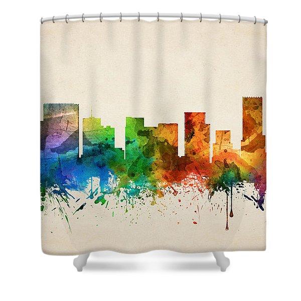Portland Oregon Skyline 05 Shower Curtain