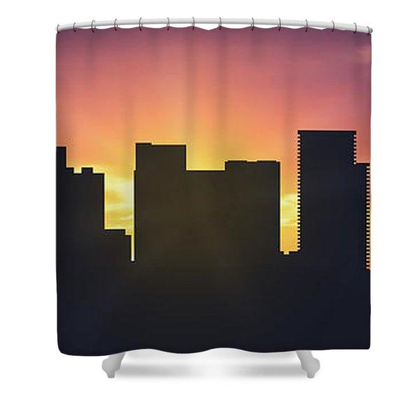Portland Sunset Usorpo-pa01 Shower Curtain