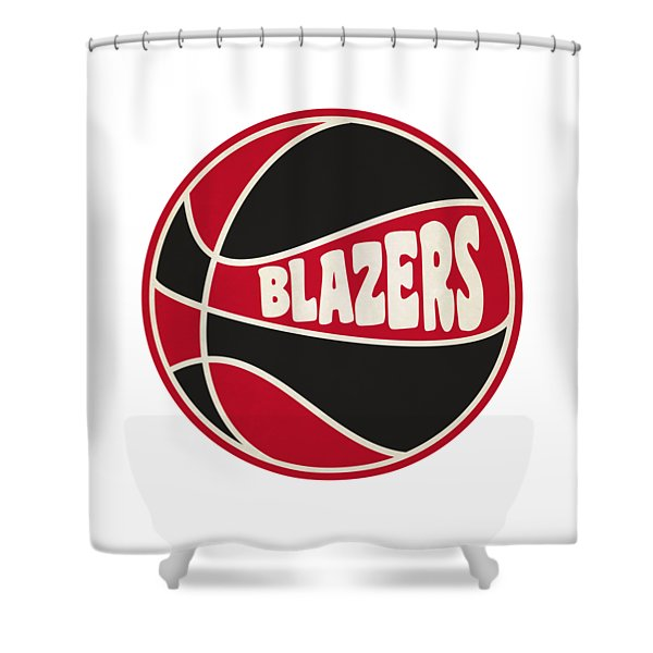 Portland Trail Blazers Retro Shirt Shower Curtain