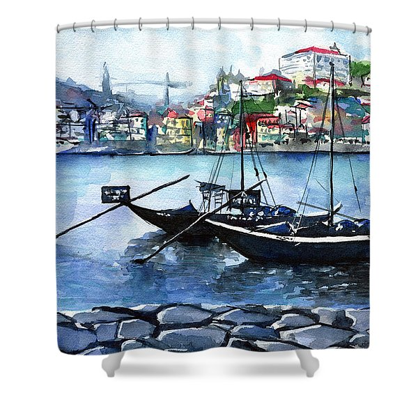 Porto Rabelo Boats Shower Curtain