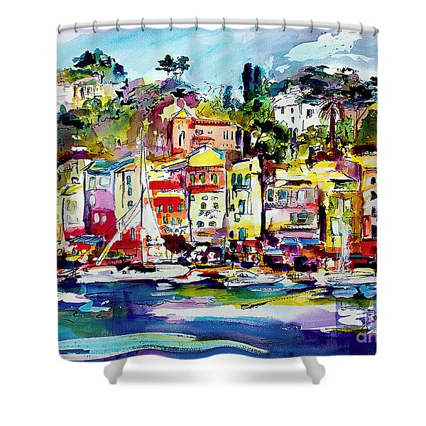 Portofino Italian Riviera Shower Curtain